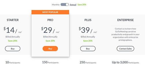 GoToMeeting Pricing