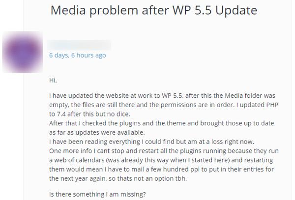 Media-problem-after-WP-5-5-Update-WordPress-org