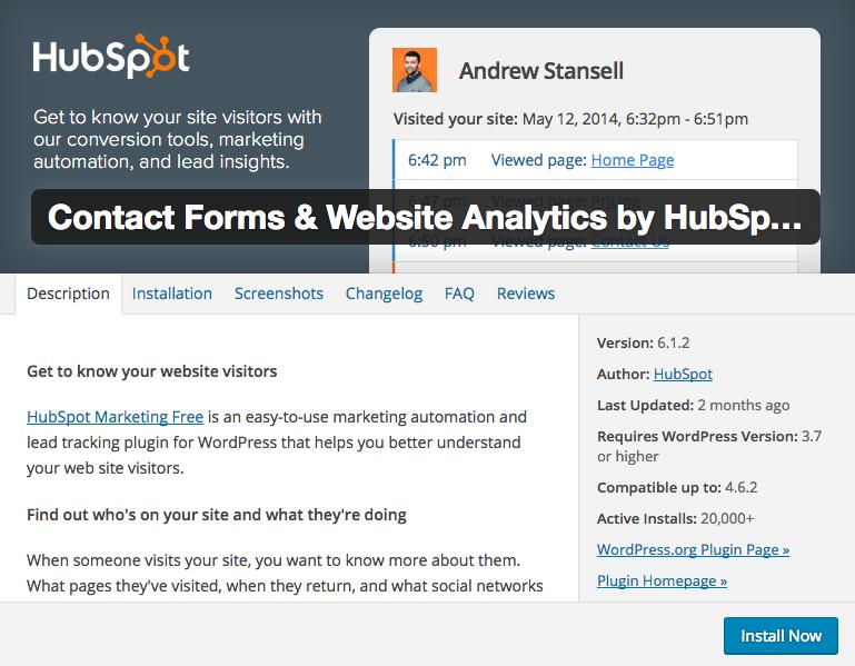 hubspot wordpress plugins